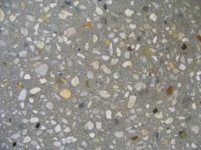 вскрытие зерен с верхнего слоя бетона